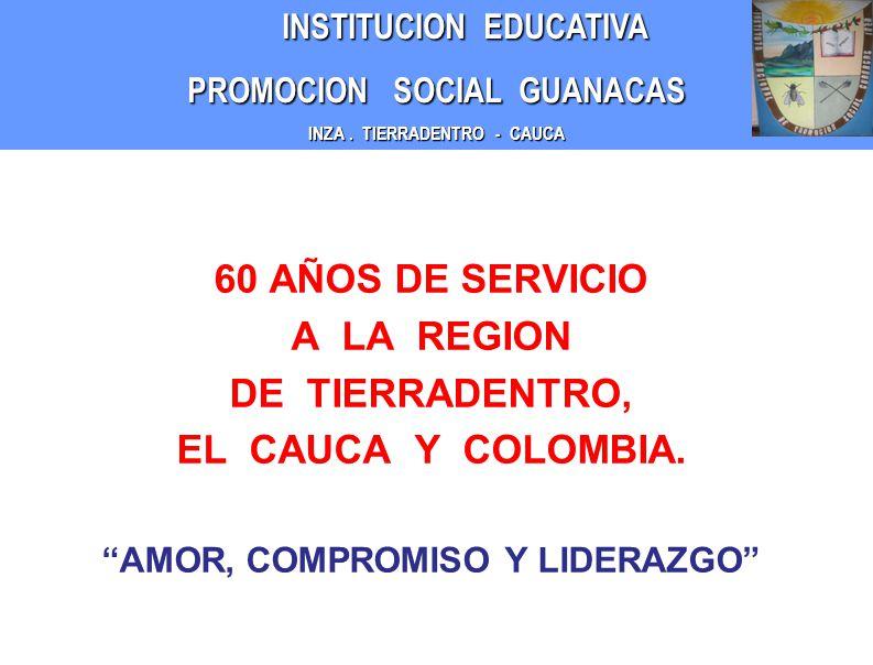 INSTITUCION EDUCATIVA INSTITUCION EDUCATIVA PROMOCION SOCIAL GUANACAS INZA.