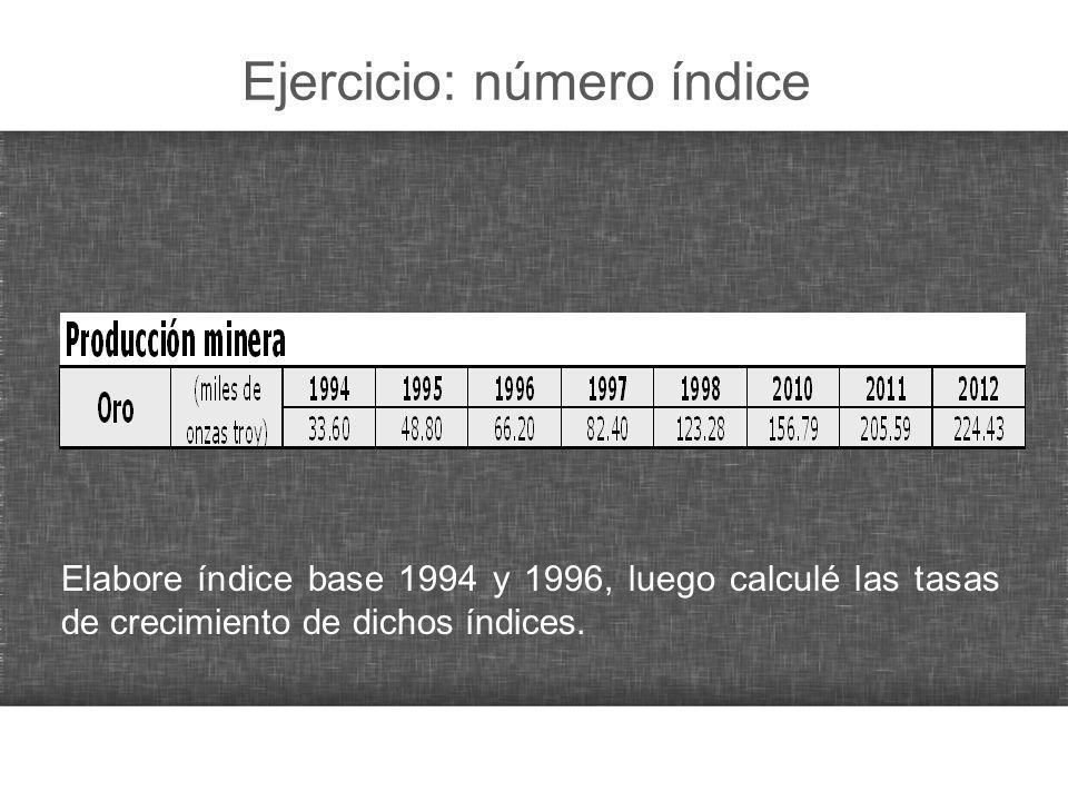 Índices para cálculo a precios constantes