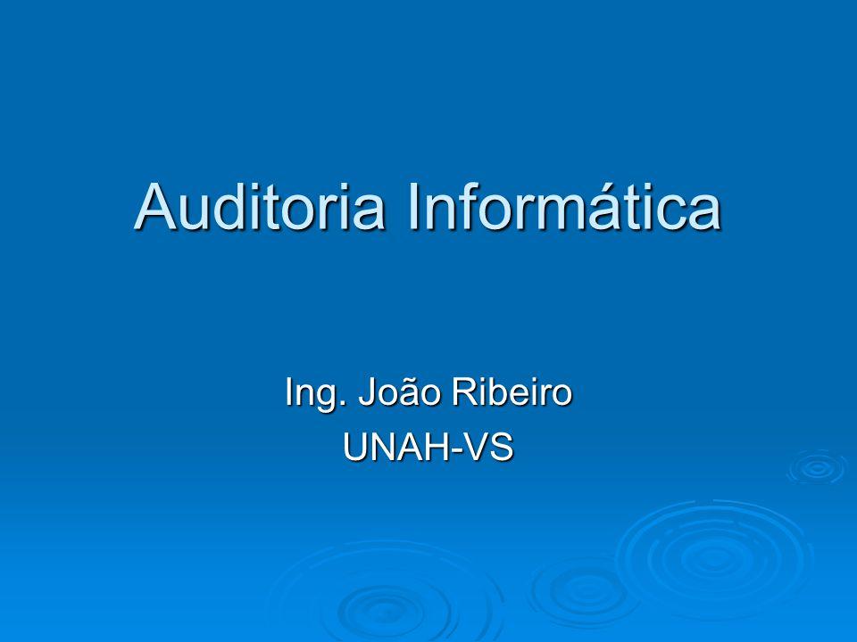 Auditoria Informática Ing. João Ribeiro UNAH-VS