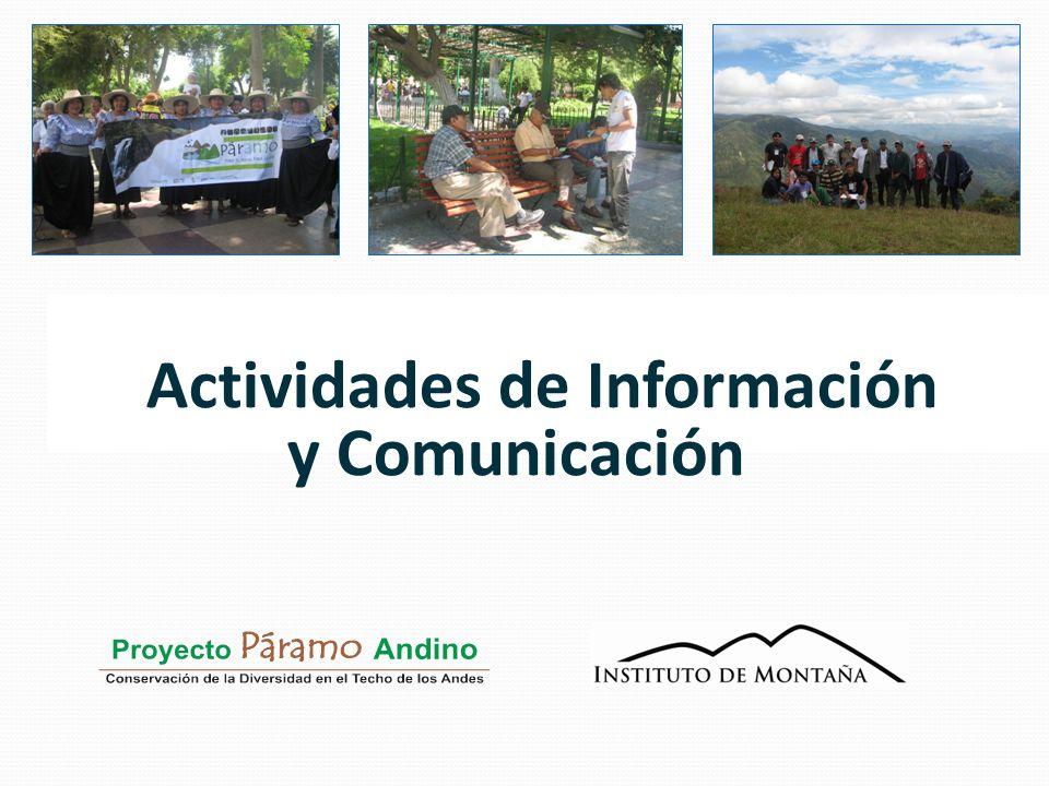 Actividades de Información y Comunicación