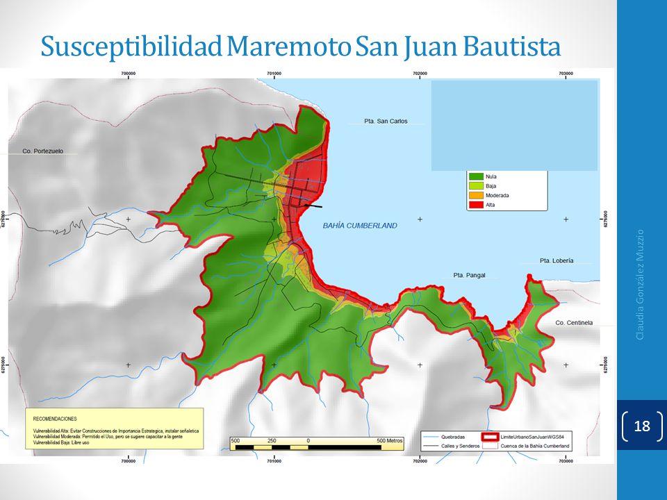 Claudia González Muzzio 18 Susceptibilidad Maremoto San Juan Bautista
