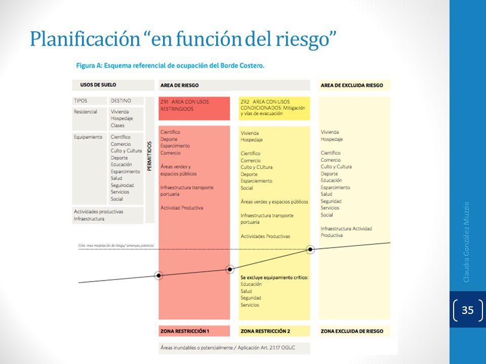 Planificación en función del riesgo Claudia González Muzzio 35