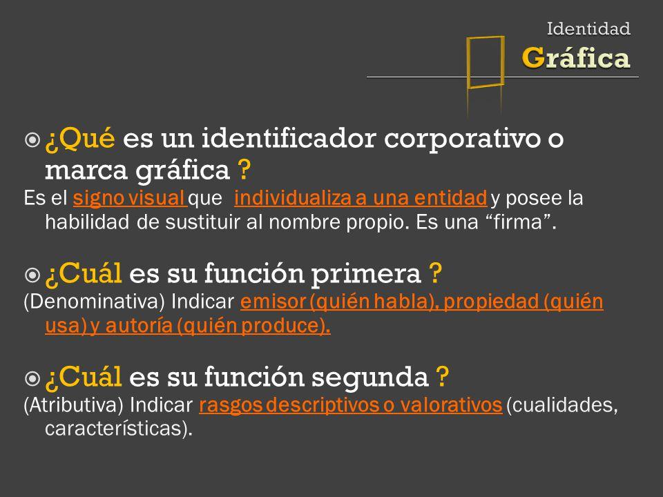 ¿Qué es un identificador corporativo o marca gráfica .