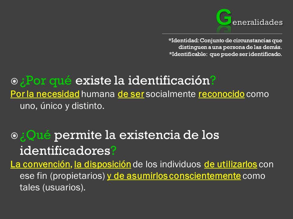 *Identidad: Conjunto de circunstancias que distinguen a una persona de las demás.