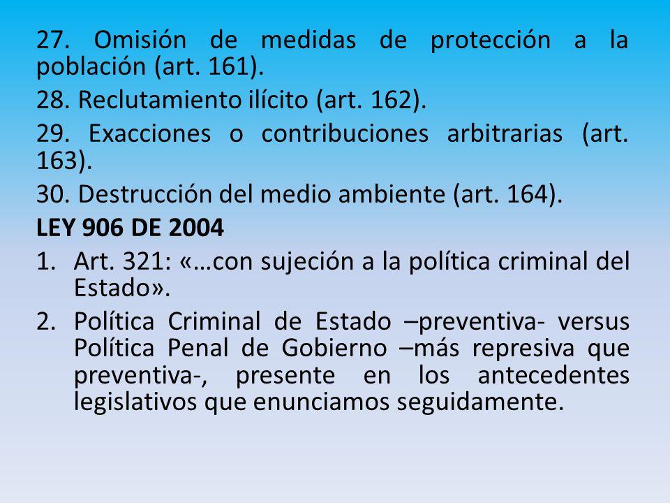 27.Omisión de medidas de protección a la población (art.