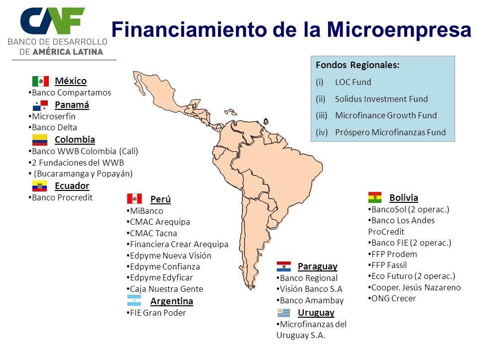 Financiamiento de la Microempresa Fondos Regionales: (i)LOC Fund (ii)Solidus Investment Fund (iii)Microfinance Growth Fund (iv)Próspero Microfinanzas