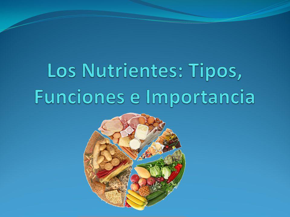 Clasificación de los Nutrientes Según las cantidades necesarias y la energía que aportan, pueden ser: Macronutrientes : Necesitan consumirse en mayor cantidad y suministran energía al organismo.