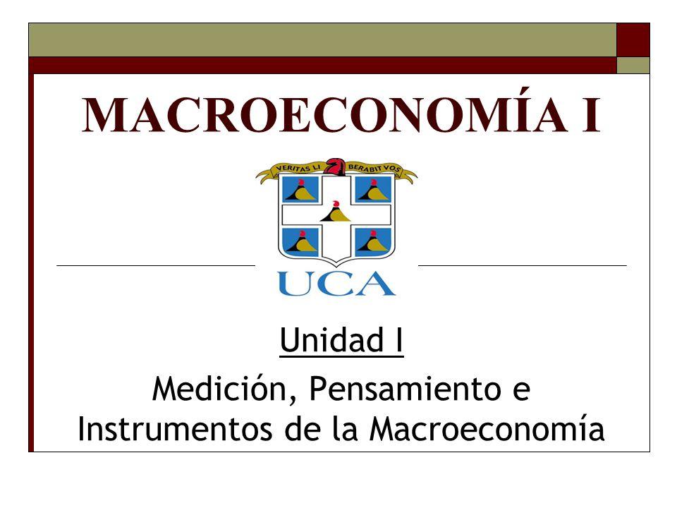 MACROECONOMÍA I Unidad I Medición, Pensamiento e Instrumentos de la Macroeconomía