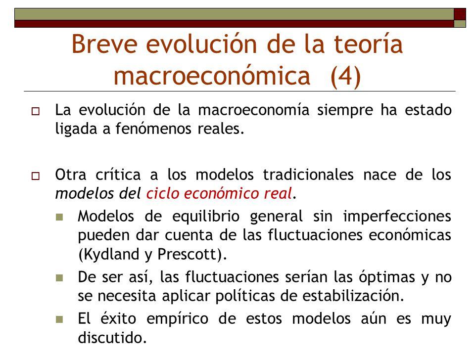 Breve evolución de la teoría macroeconómica (4) La evolución de la macroeconomía siempre ha estado ligada a fenómenos reales. Otra crítica a los model