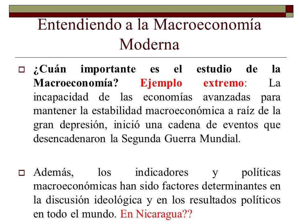 Entendiendo a la Macroeconomía Moderna ¿Cuán importante es el estudio de la Macroeconomía? Ejemplo extremo: La incapacidad de las economías avanzadas