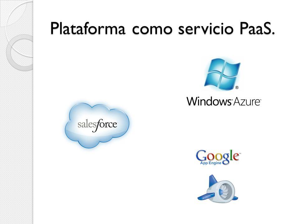 Plataforma como servicio PaaS.