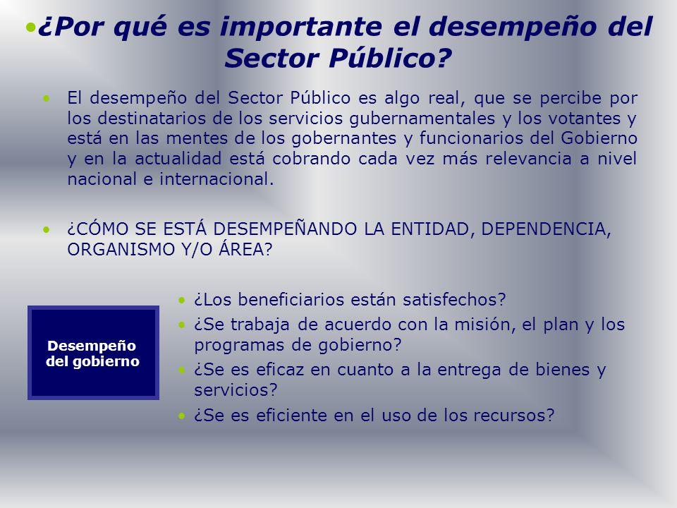 El desempeño del Sector Público es algo real, que se percibe por los destinatarios de los servicios gubernamentales y los votantes y está en las mente