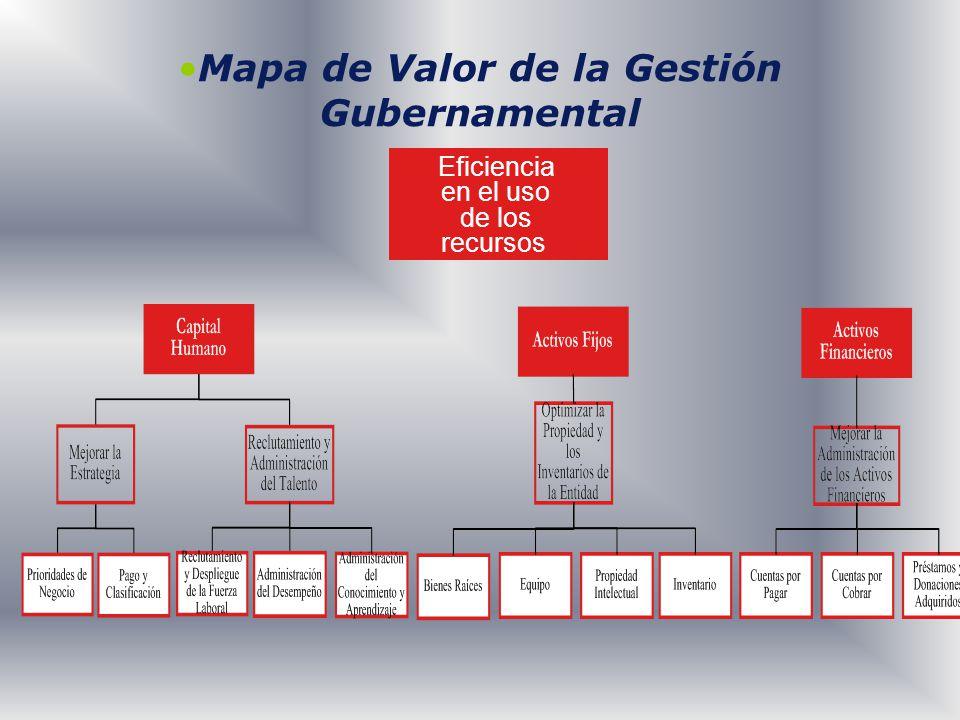 Mapa de Valor de la Gestión Gubernamental Eficiencia en el uso de los recursos
