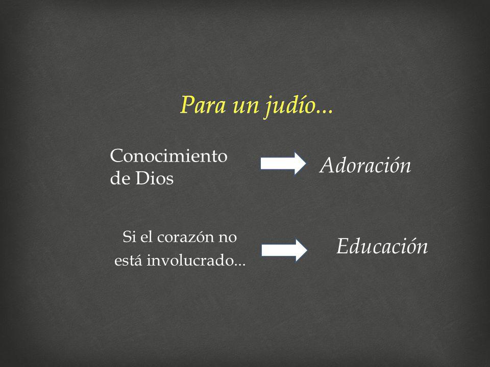 Si el corazón no está involucrado... Conocimiento de Dios Adoración Educación