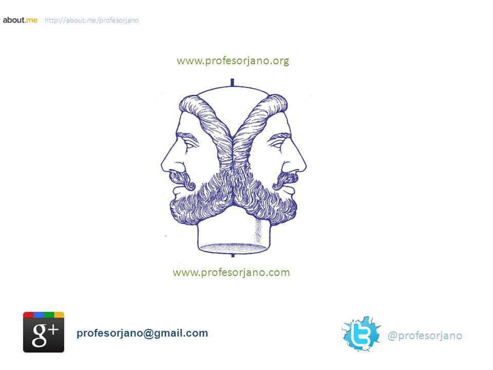 www.profesorjano.org www.profesorjano.com profesorjano@gmail.com @profesorjano http://about.me/profesorjano