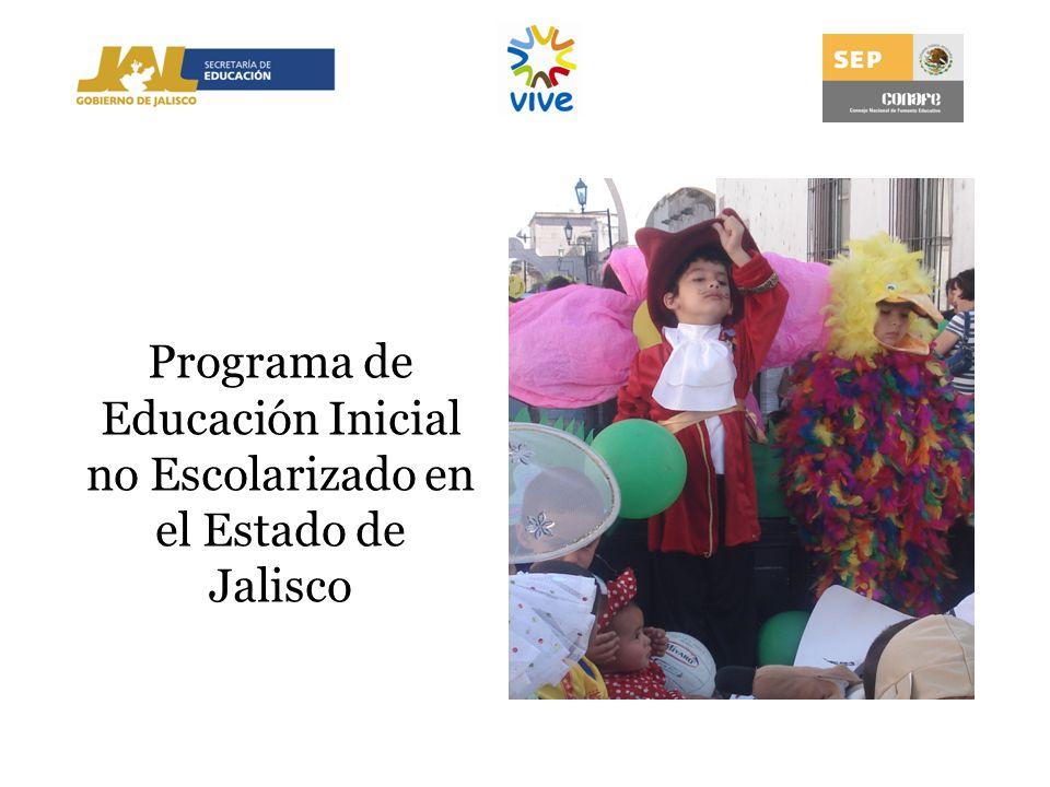 Programa de Educación Inicial no Escolarizado en el Estado de Jalisco