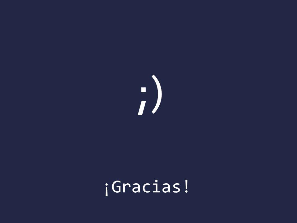 ¡Gracias! ;)