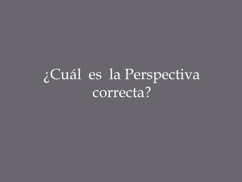 ¿Cuál es la Perspectiva correcta?