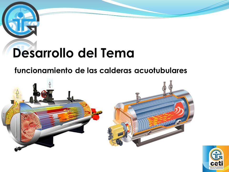 funcionamiento de las calderas acuotubulares