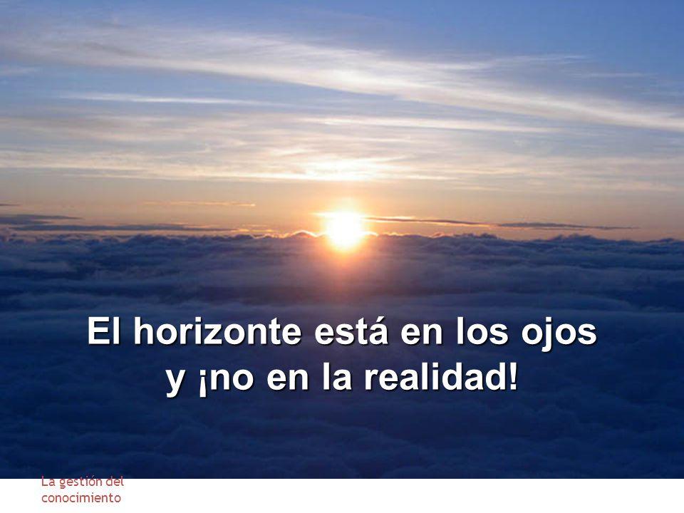 El horizonte está en los ojos y ¡no en la realidad! La gestión del conocimiento