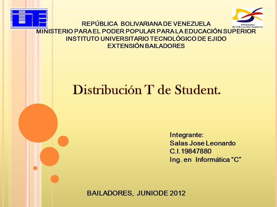 REPÚBLICA BOLIVARIANA DE VENEZUELA MINISTERIO PARA EL PODER POPULAR PARA LA EDUCACIÓN SUPERIOR INSTITUTO UNIVERSITARIO TECNOLÓGICO DE EJIDO EXTENSIÓN