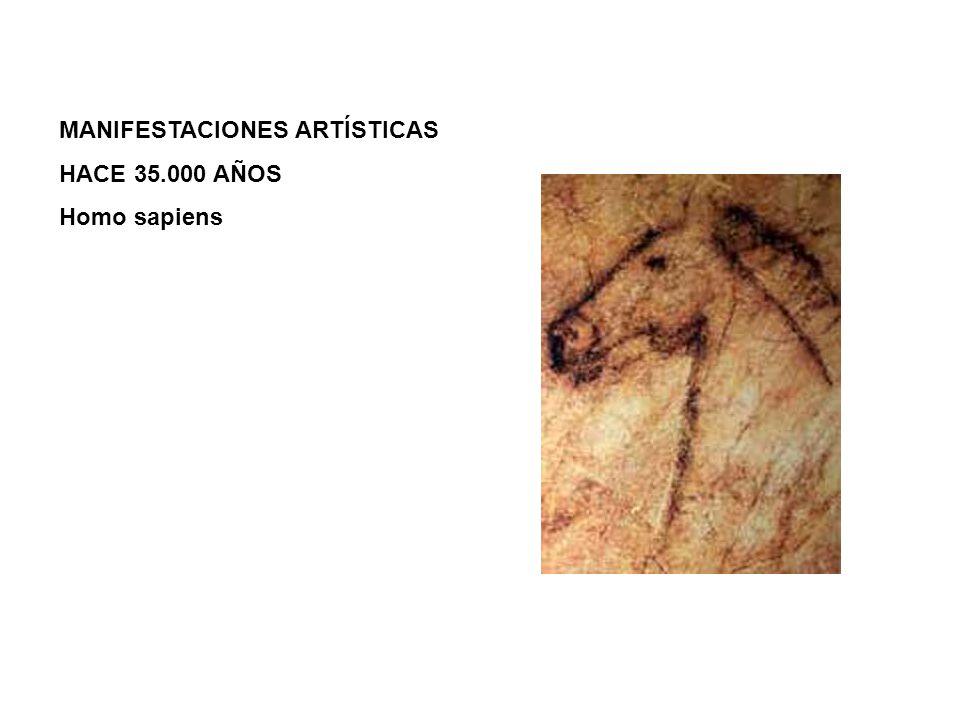 MANIFESTACIONES ARTÍSTICAS HACE 35.000 AÑOS Homo sapiens