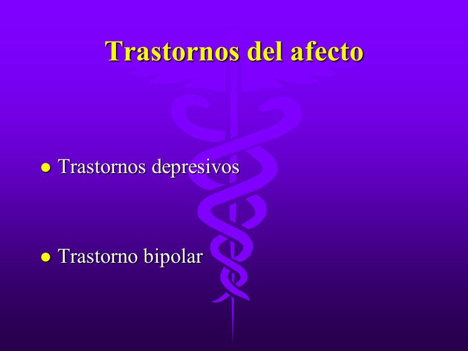 Trastornos del afecto l Trastornos depresivos l Trastorno bipolar