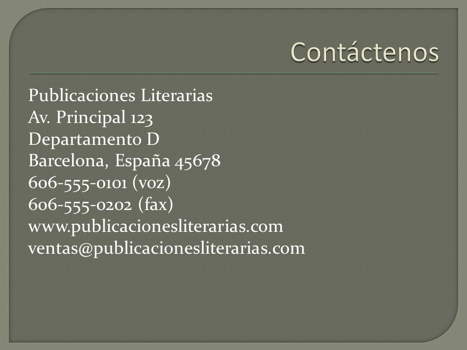 Publicaciones Literarias Av.