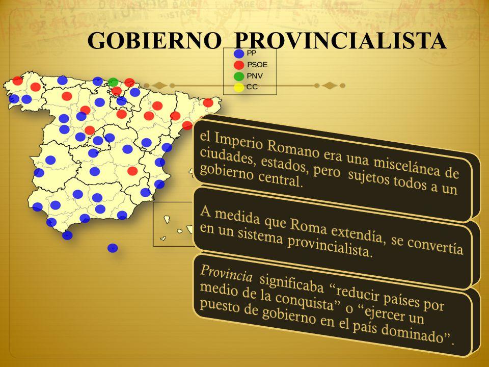 Esta forma de Gobierno era de dos clases: Las provincias que eran relativamente pacíficas y leales a Roma, estaban gobernadas por procónsules (Hech.