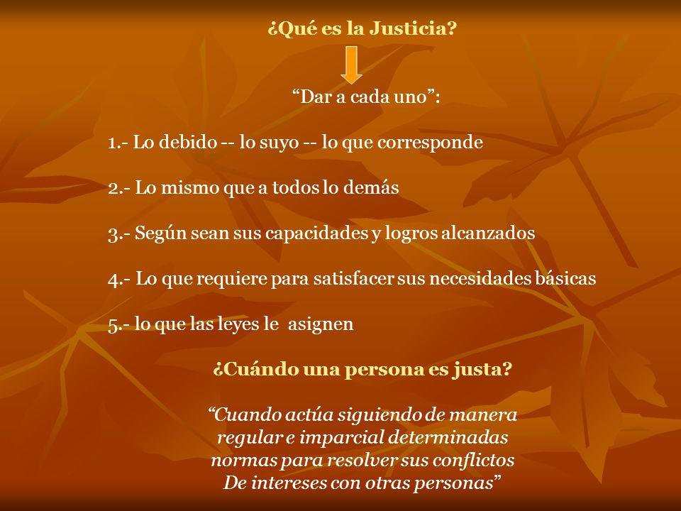 ¿Qué es la Justicia.