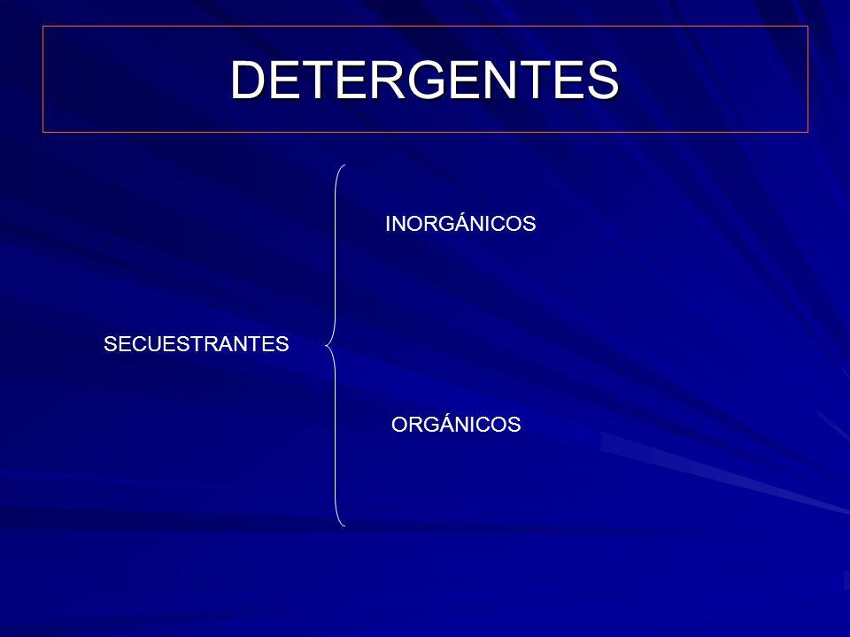 DETERGENTES SECUESTRANTES INORGÁNICOS ORGÁNICOS
