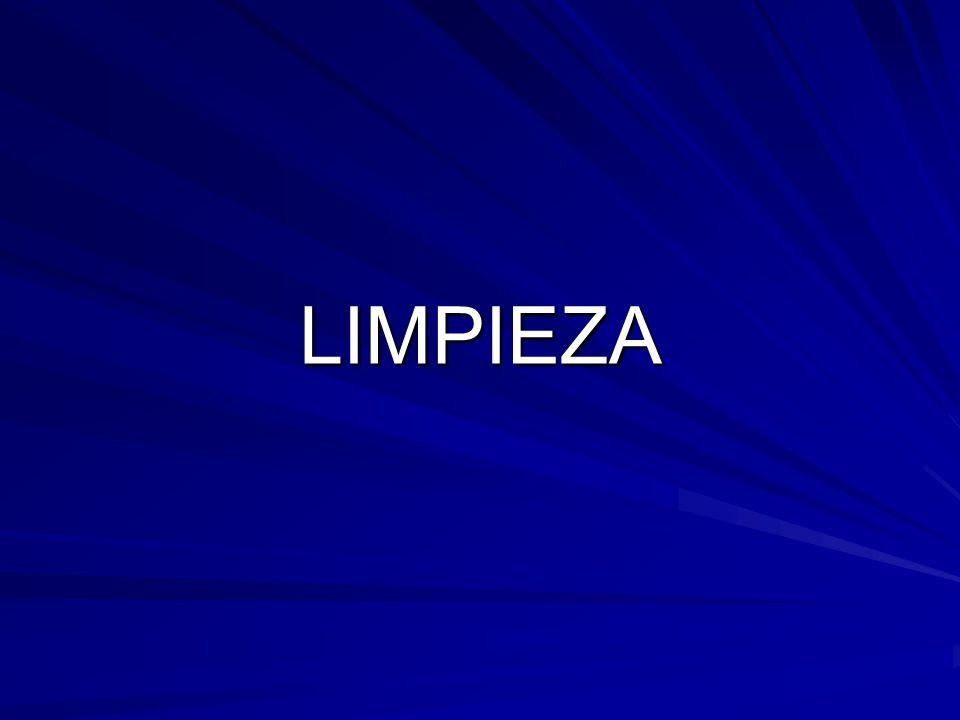 LIMPIEZA LIMPIEZA EX SITU POR INMERSIÓN CON ESPUMA POR ASPERSIÓN MANUAL Presión alta Presión media Presión baja