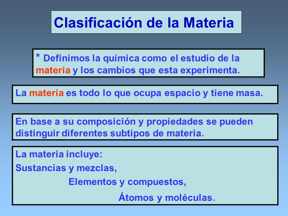 Sustancias y Mezclas Una sustancia es una forma de la materia que tiene una composición definida y propiedades distintivas.
