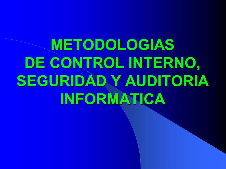 METODOLOGIAS DE CONTROL INTERNO, SEGURIDAD Y AUDITORIA INFORMATICA