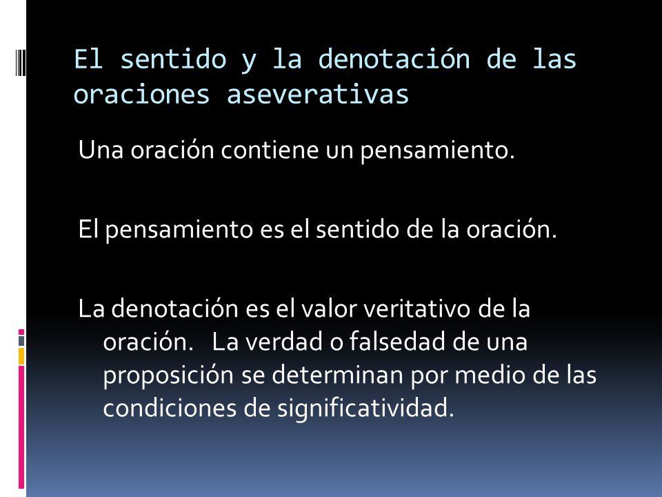Sobre sentido y referencia Frege distingue: Signo === Nombre Denotación === Objeto Sentido ===== La conexión entre ambos