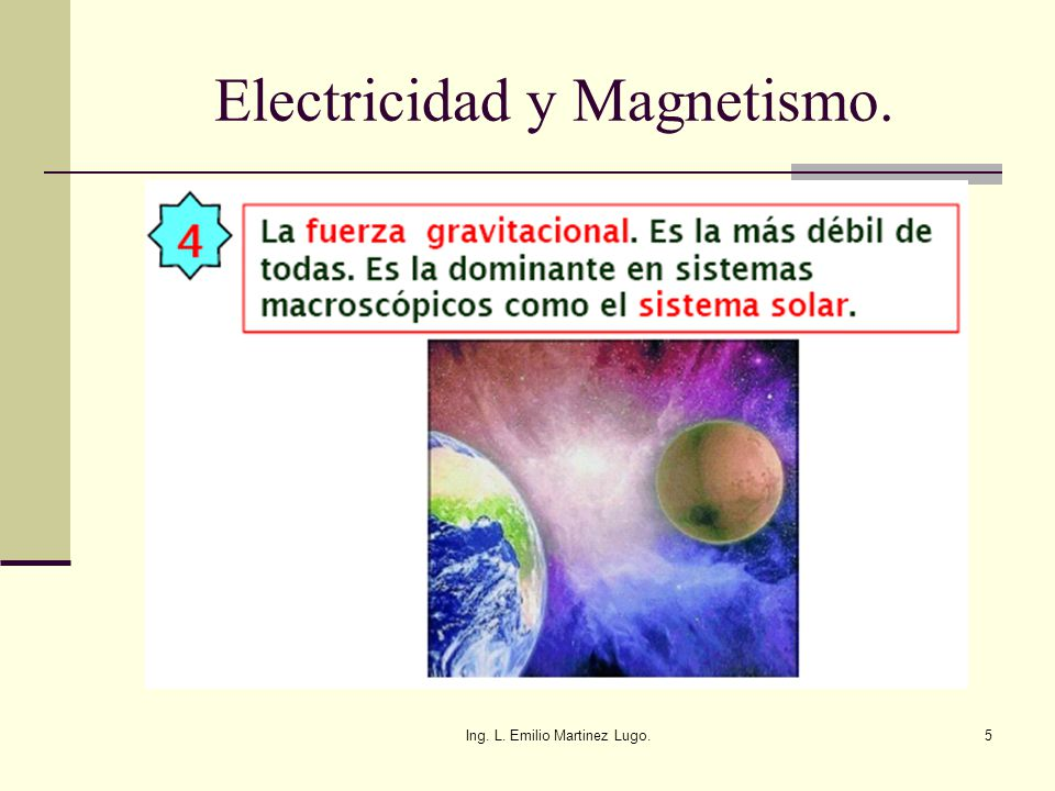 Ing. L. Emilio Martinez Lugo.96 Campo Eléctrico