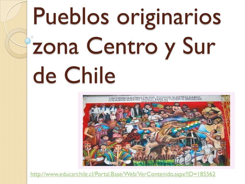 Pueblos originarios zona Centro y Sur de Chile http://www.educarchile.cl/Portal.Base/Web/VerContenido.aspx?ID=185562