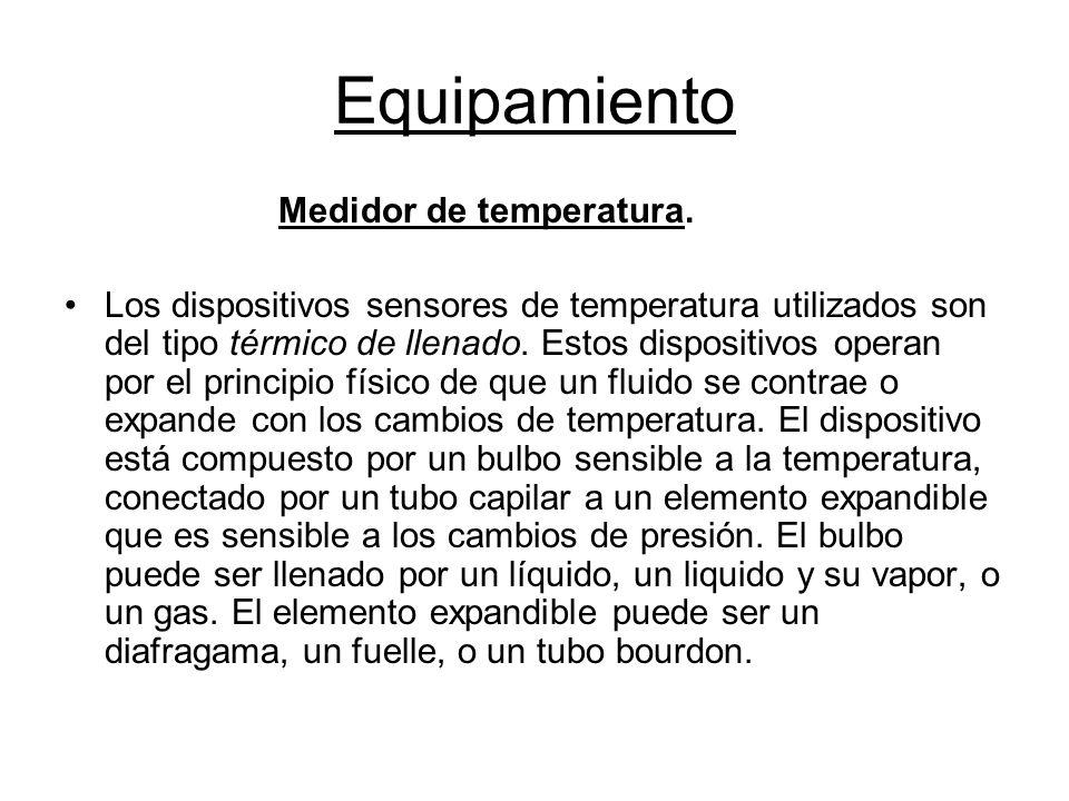 Equipamiento Medidor de temperatura.