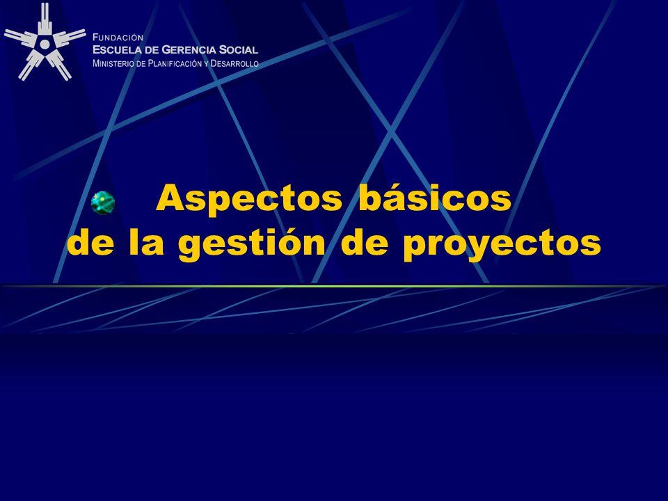 Aspectos básicos de la gestión de proyectos