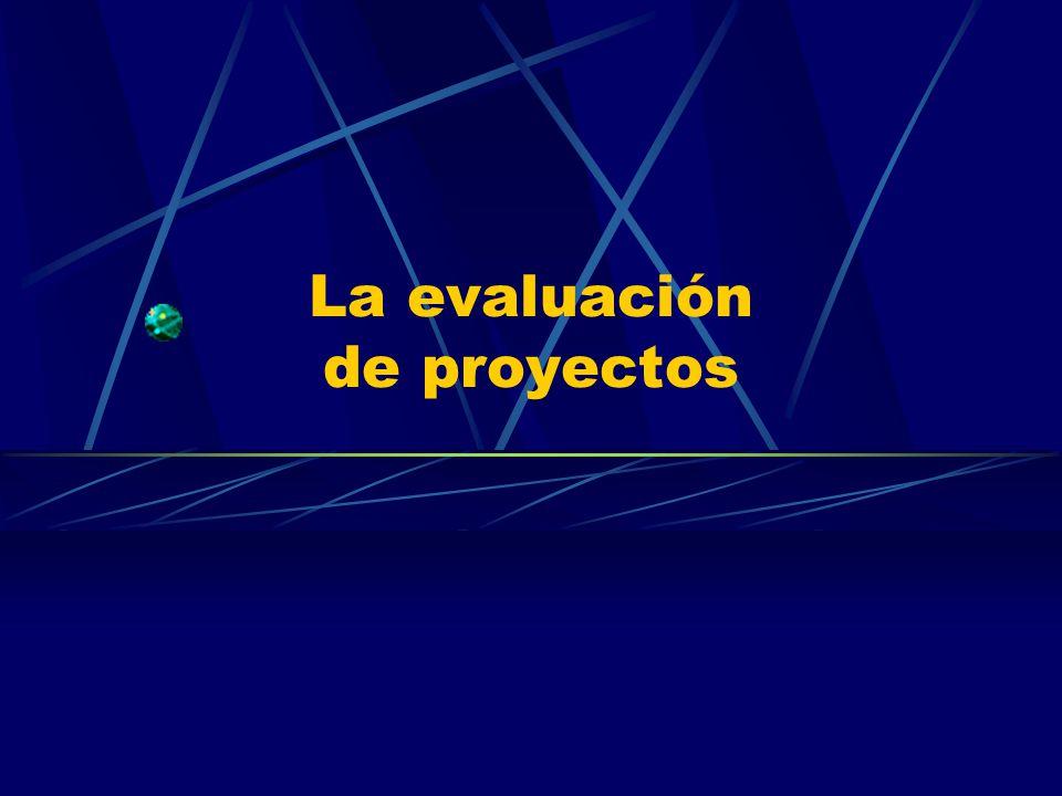 La evaluación de proyectos