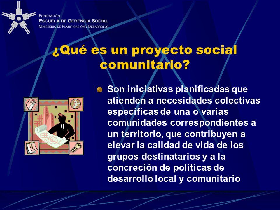 ¿Qué es un proyecto social comunitario.