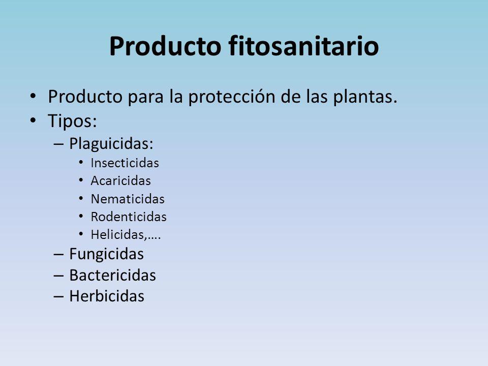 Producto fitosanitario Producto para la protección de las plantas.