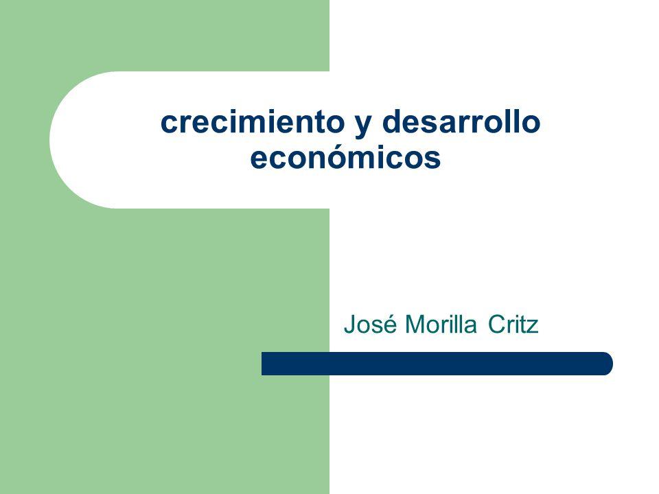 crecimiento y desarrollo económicos José Morilla Critz