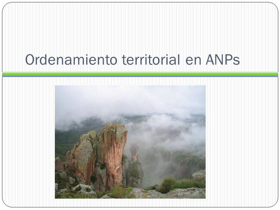 Ordenamiento territorial en ANPs