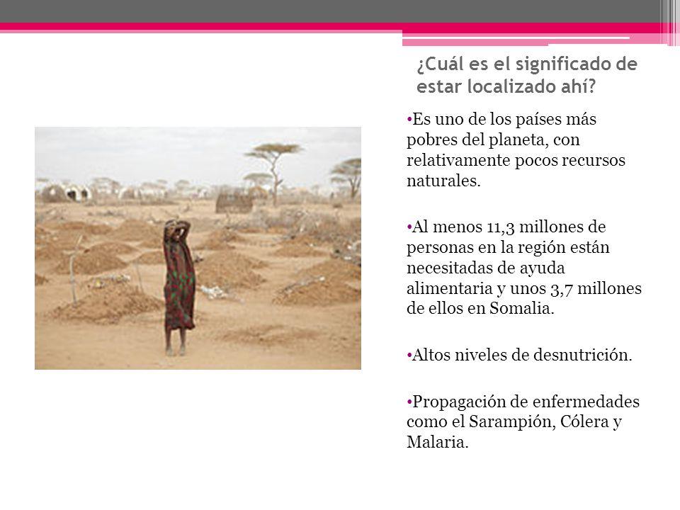 ¿Cuál es el significado de estar localizado ahí? Es uno de los países más pobres del planeta, con relativamente pocos recursos naturales. Al menos 11,