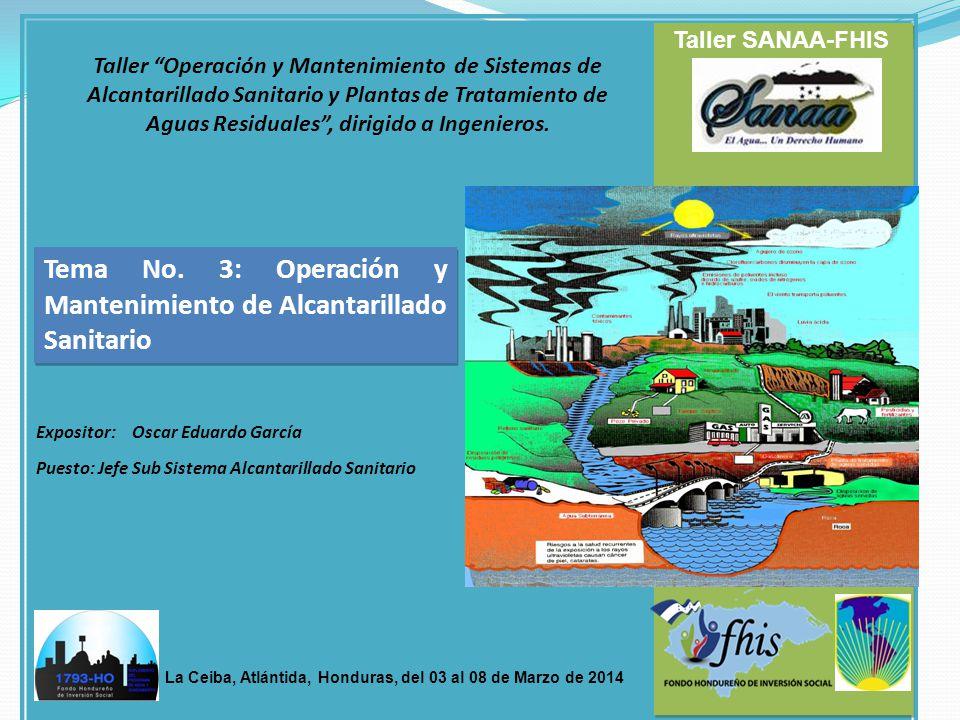 Taller Operación y Mantenimiento de Sistemas de Alcantarillado Sanitario y Plantas de Tratamiento de Aguas Residuales, dirigido a Ingenieros. Taller S