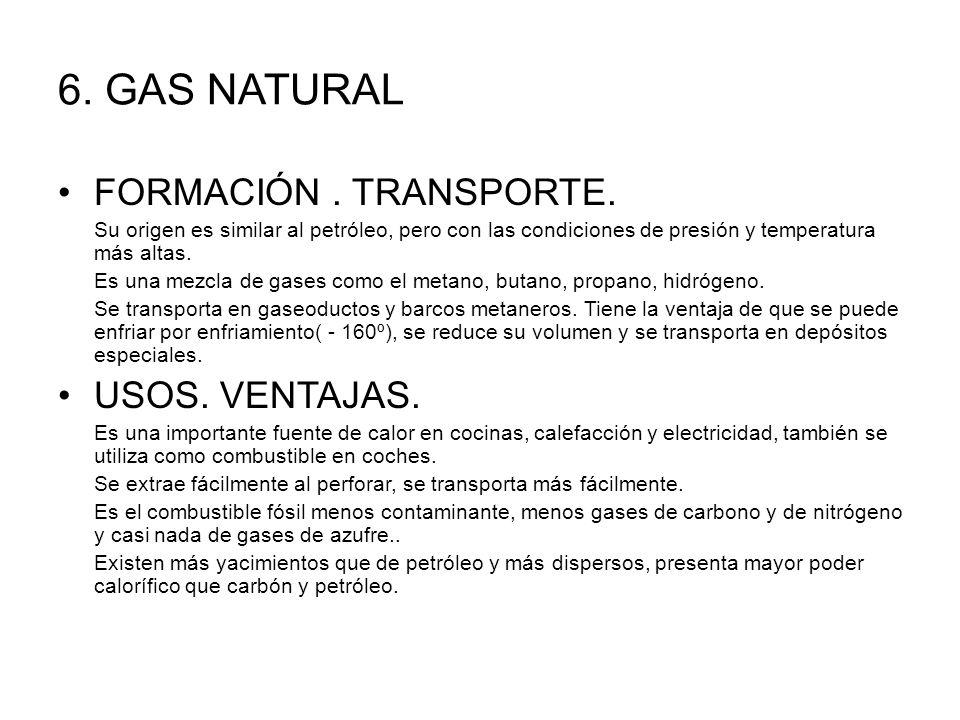 6.GAS NATURAL FORMACIÓN. TRANSPORTE.