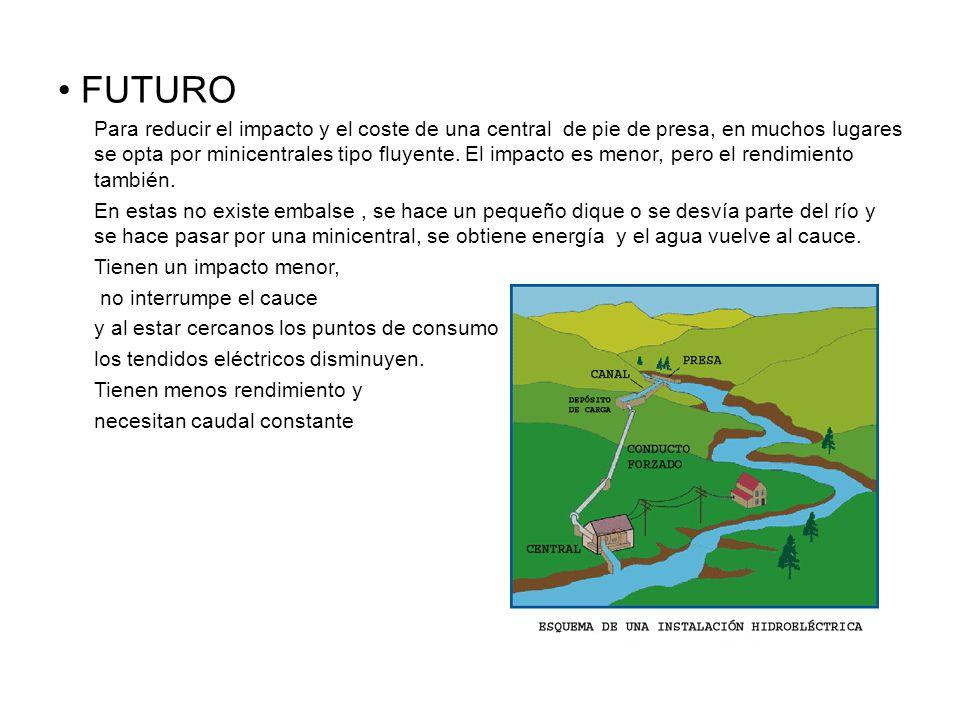 FUTURO Para reducir el impacto y el coste de una central de pie de presa, en muchos lugares se opta por minicentrales tipo fluyente.