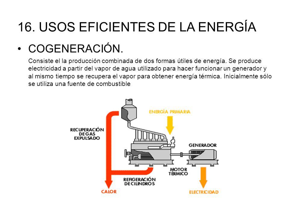 16.USOS EFICIENTES DE LA ENERGÍA COGENERACIÓN.
