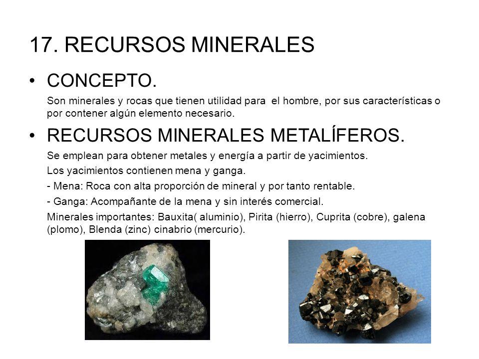 17.RECURSOS MINERALES CONCEPTO.